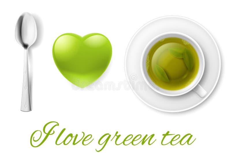 Ik houd van thee vector illustratie