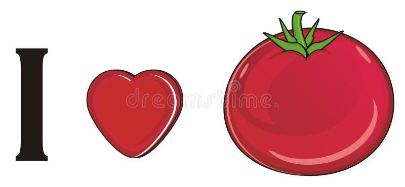 Ik houd van tomaat stock illustratie