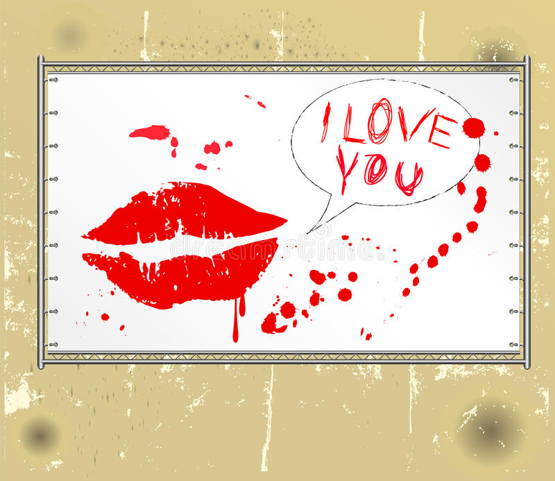 Ik houd van u vector illustratie