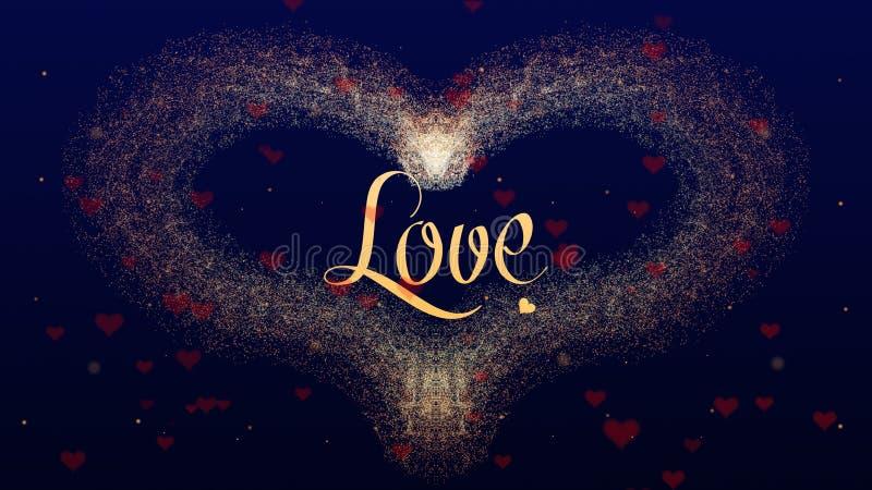 Ik houd van u houd van bekentenis De Daghart van Valentine van rode die wijnplons wordt op diepe blauwe achtergrond wordt ge?sole royalty-vrije stock afbeelding