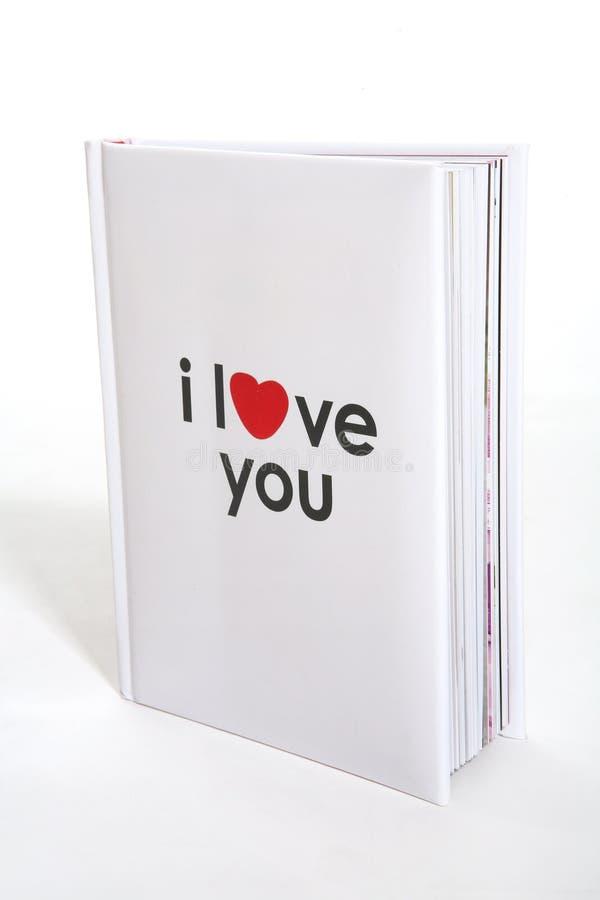 Ik houd van u boek royalty-vrije stock fotografie