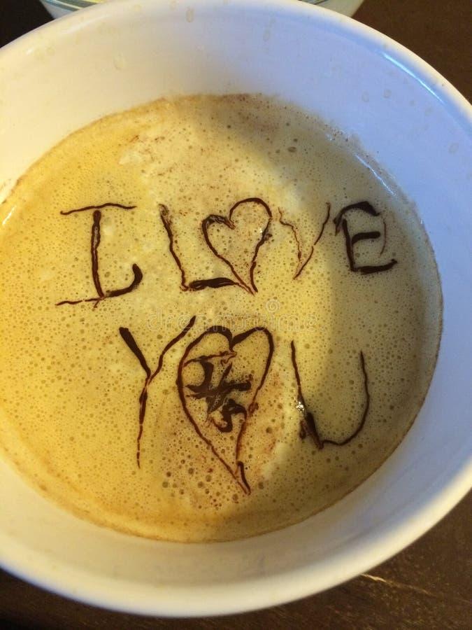 Ik houd van u koffie stock foto
