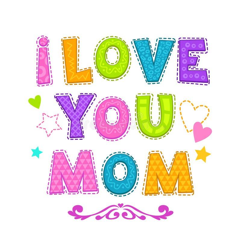 Ik houd van u mamma vector illustratie