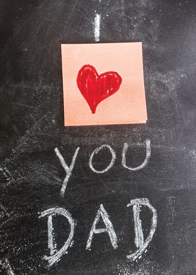 Ik houd van u Papa vector illustratie