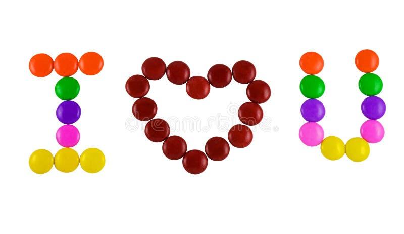 Ik houd van u Suikergoed royalty-vrije stock afbeelding