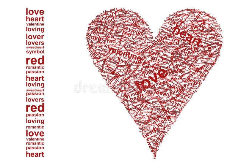 Ik houd van? van de woorden royalty-vrije illustratie