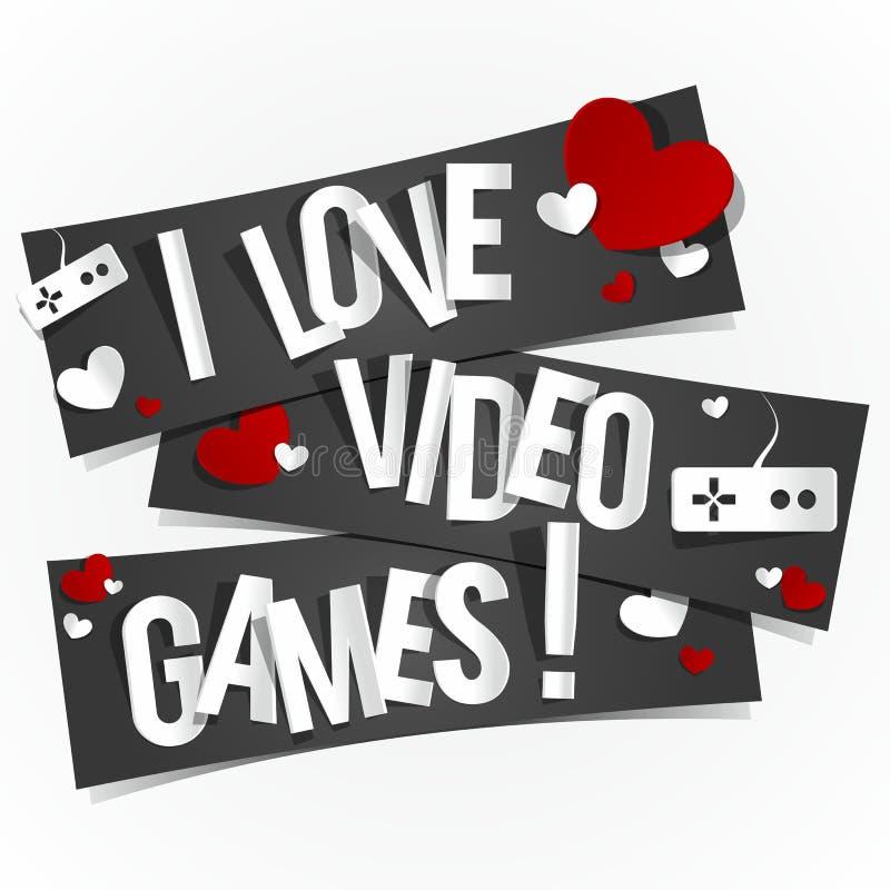 Ik houd van Videospelletjes royalty-vrije illustratie