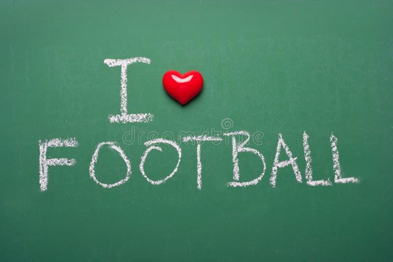 Ik houd van voetbal stock afbeelding