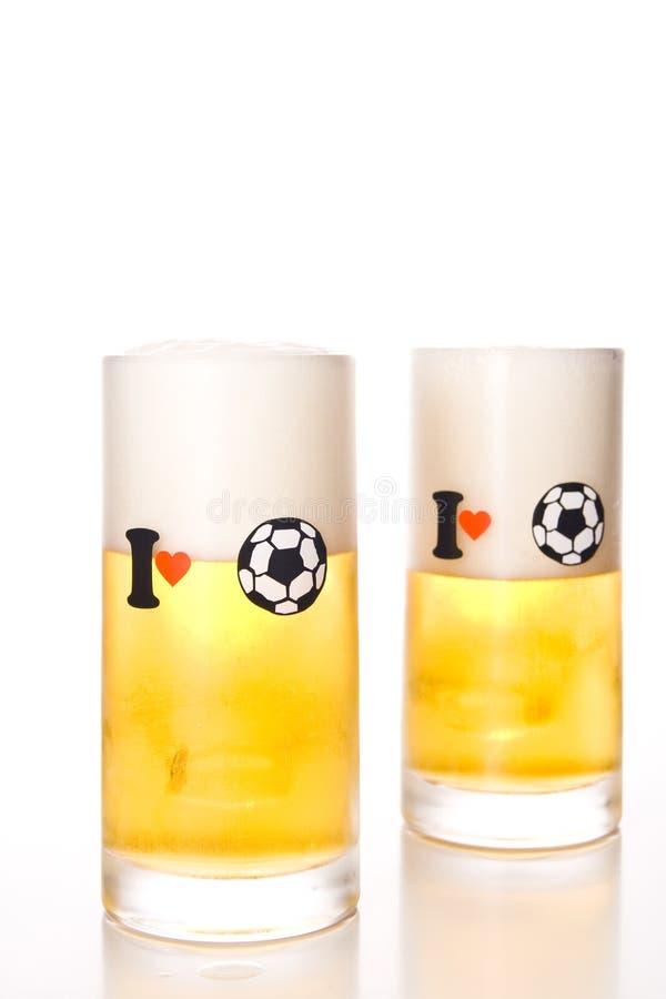 Ik houd van voetbal (voetbal) royalty-vrije stock fotografie