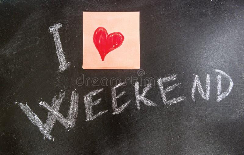Ik houd van Weekends vector illustratie
