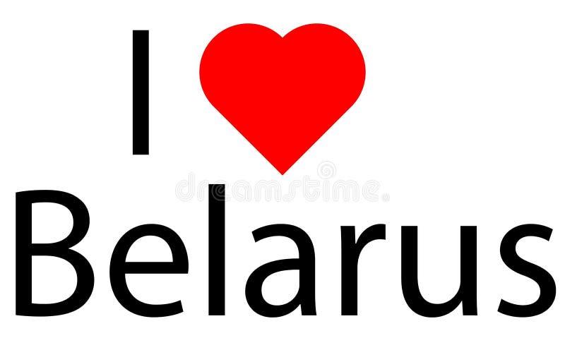 Ik houd van Wit-Rusland vector illustratie