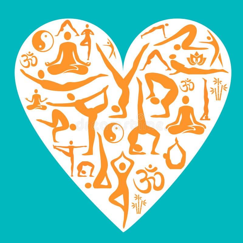 Ik houd van yoga vector illustratie
