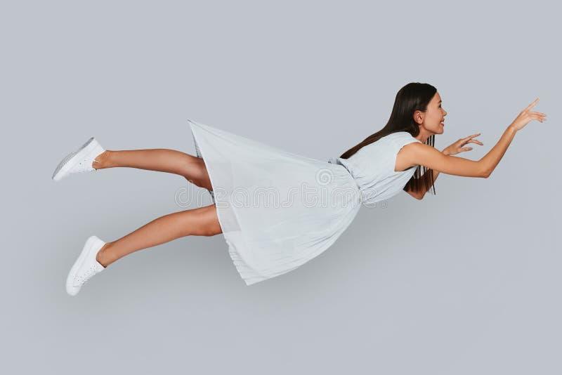 Ik kan vliegen! royalty-vrije stock afbeeldingen