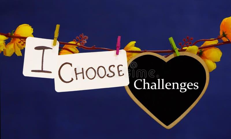Ik kies voor tekst voor uitdagingen stock fotografie