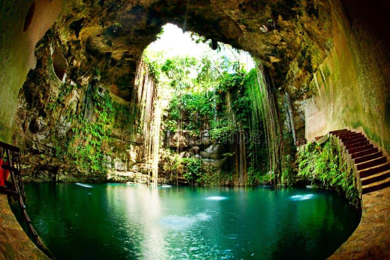 Ik-Kil Cenote royalty free stock photo