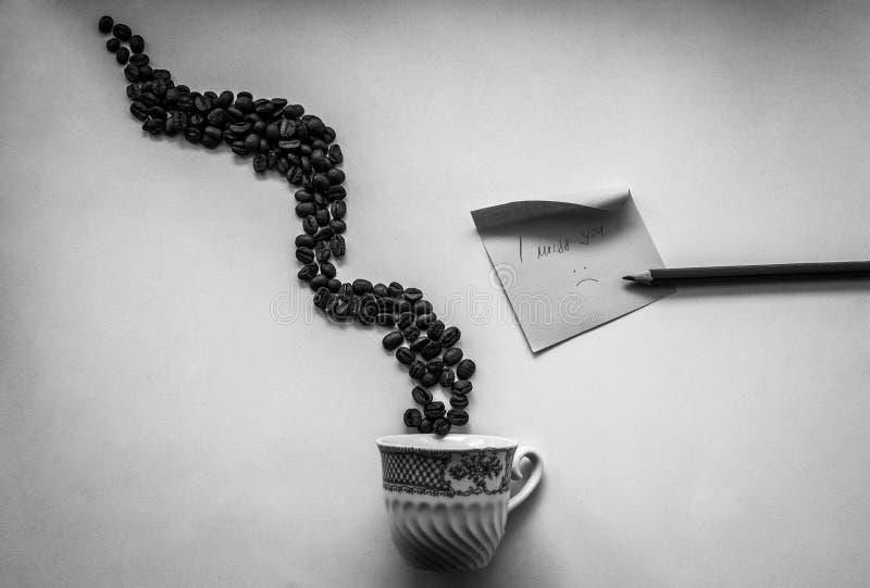 Ik mis koffie met u royalty-vrije stock fotografie