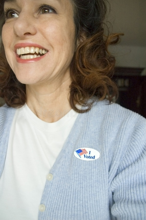 Ik stemde! stock foto's