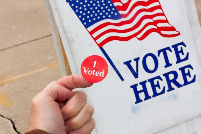 Ik stemde! stock afbeelding