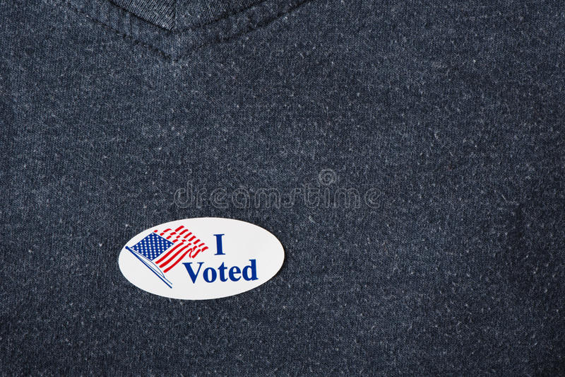 Ik stemde over sticker royalty-vrije stock fotografie