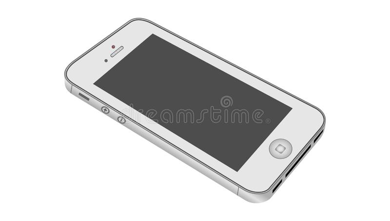 Ik telefoneer geïsoleerd op witte achtergrond Vector illustratie vector illustratie