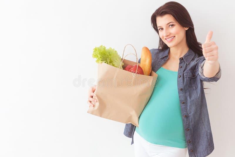 Ik verkies slechts het gezonde eten royalty-vrije stock afbeelding