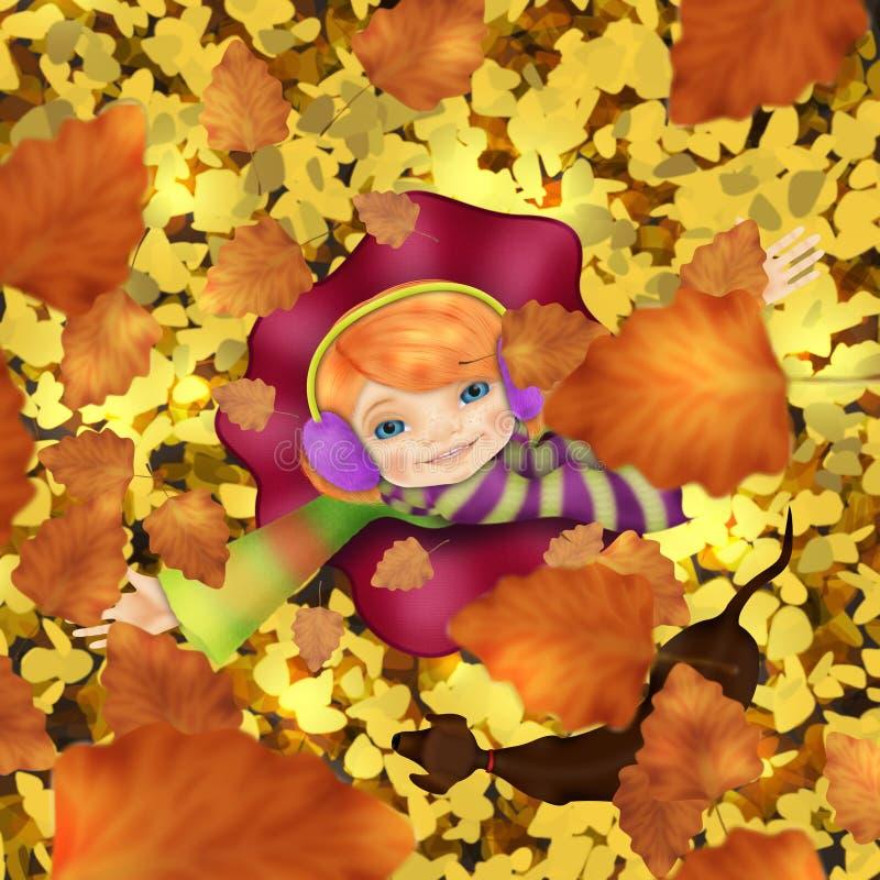 Ik wil de herfst omhelzen stock afbeelding