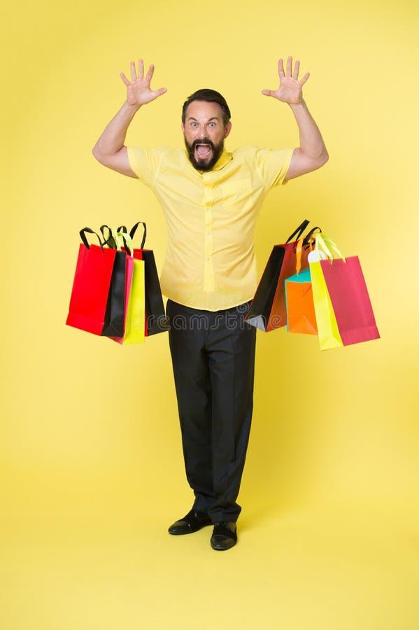 Ik word gevoed omhoog met het winkelen Het gemeenschappelijke gedachte mensenhaat winkelen Mens het schreeuwen gezicht het dalen  royalty-vrije stock foto