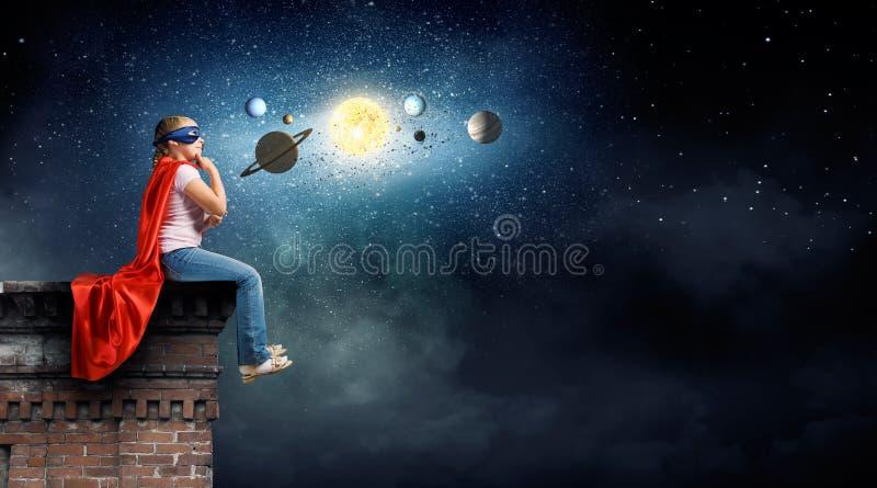Ik zal astronaut zijn royalty-vrije stock afbeeldingen