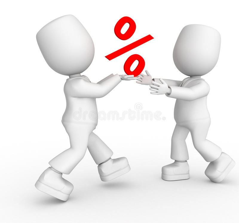 Ik zal u mijn percenten verzenden royalty-vrije illustratie