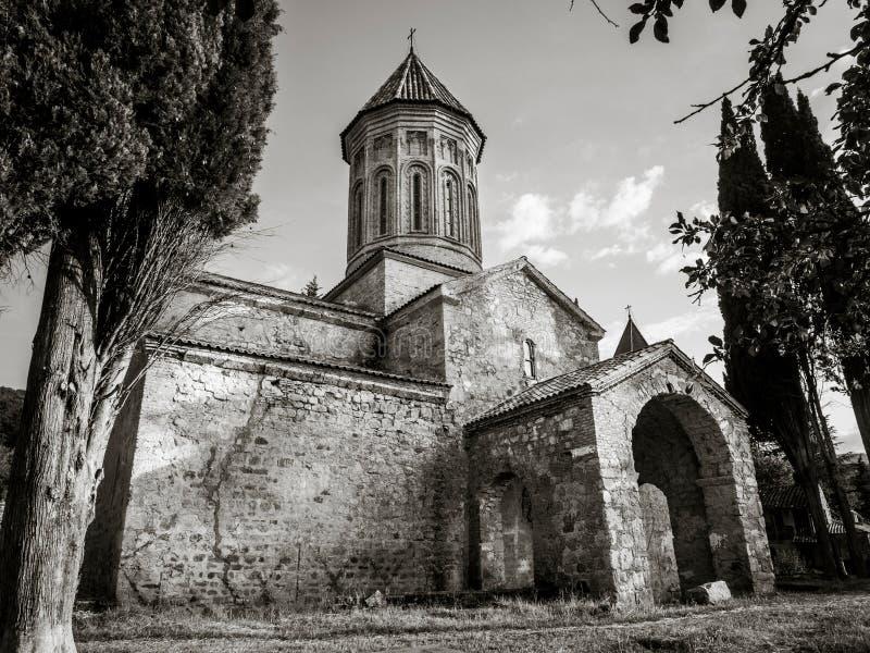 Ikalto. Cathedral in Kakheti region, Georgia stock image