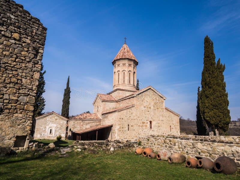 Ikalto. Cathedral in Kakheti region, Georgia royalty free stock photo