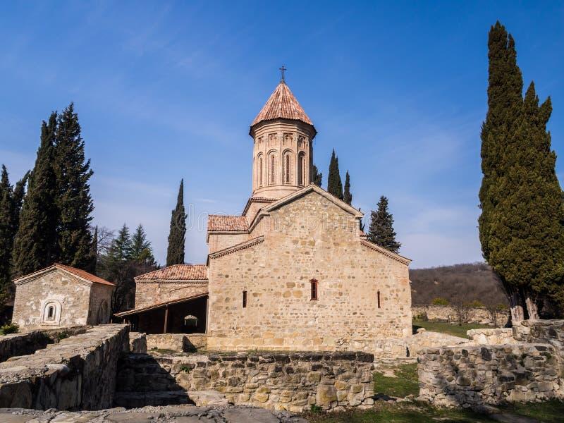 Ikalto. Cathedral in Kakheti region, Georgia stock photos