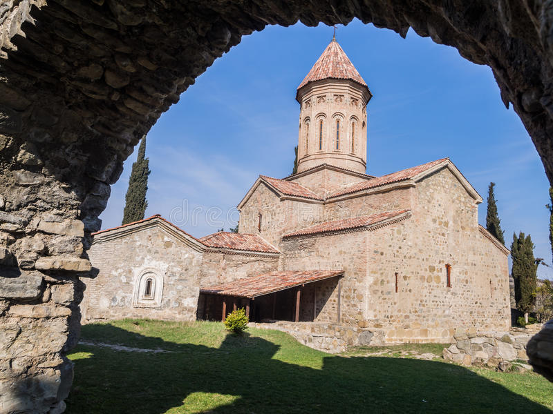 Ikalto. Cathedral in Kakheti region, Georgia royalty free stock photography