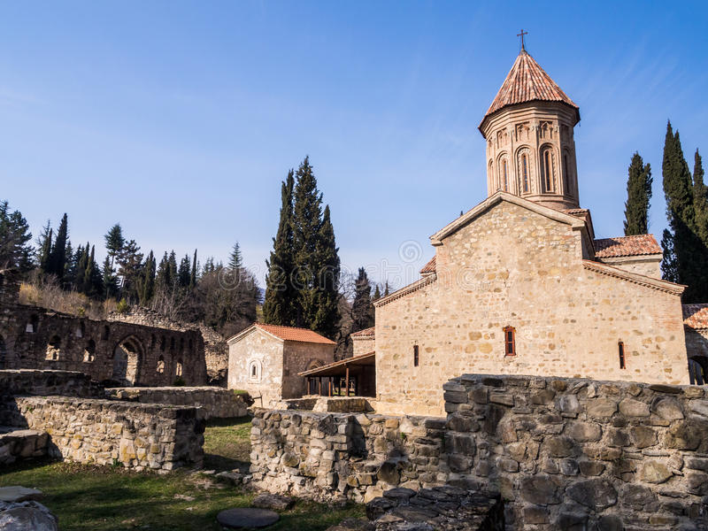 Ikalto. Cathedral in Kakheti region, Georgia stock photography