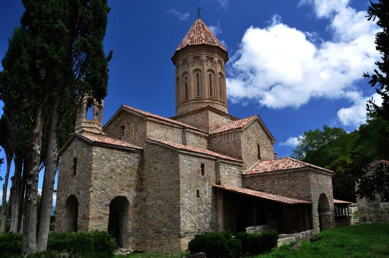 Ikalto Kloster in Georgia stockbilder