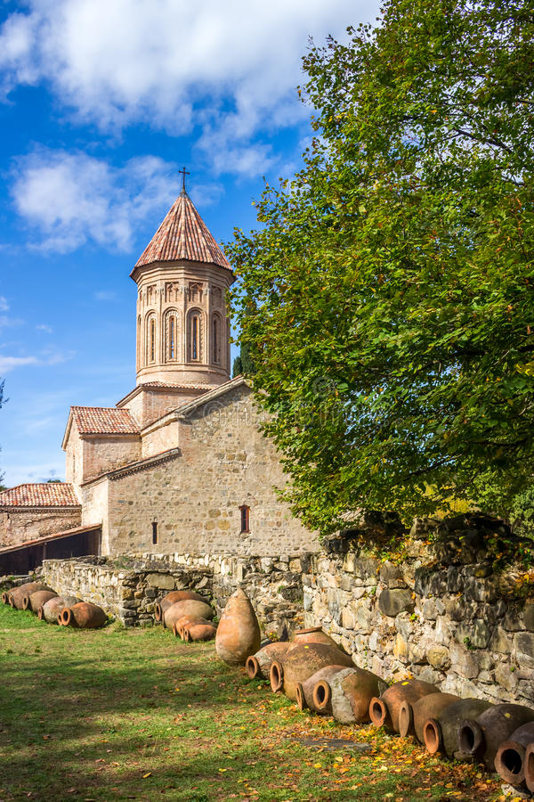 Ikalto orthodox monastery complex and Academy in Kakheti Georgia.  stock images