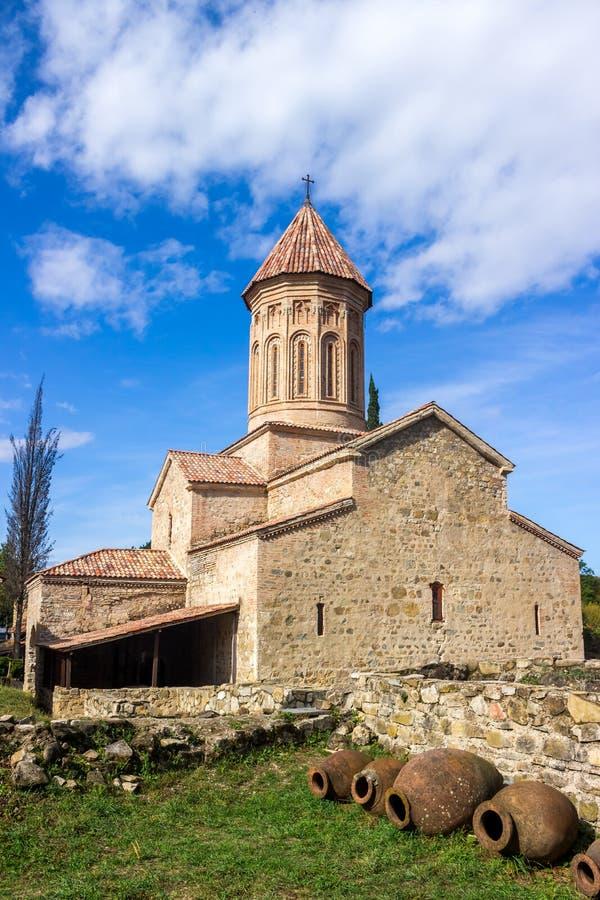 Ikalto orthodox monastery complex and Academy in Kakheti Georgia.  royalty free stock photography