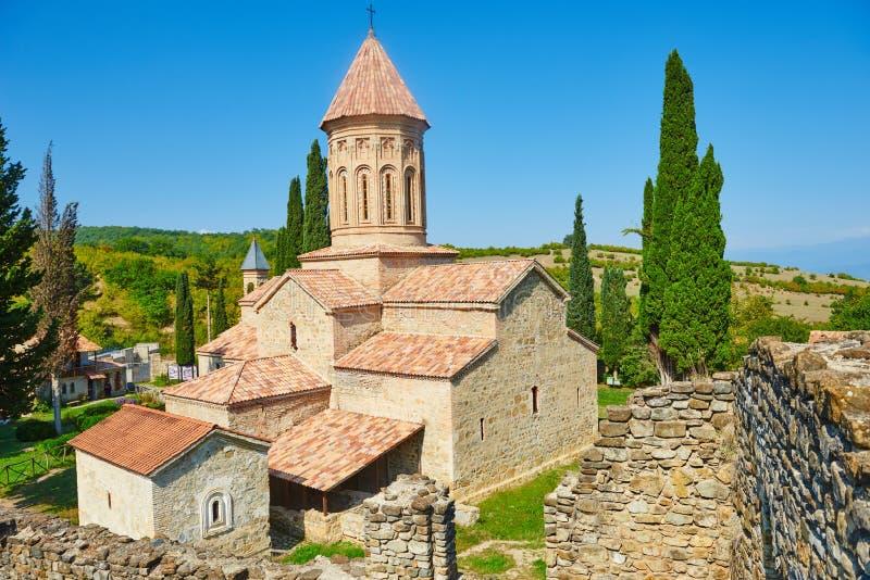 Ikalto ortodoxt klosterkomplex och akademi i Kakheti Georgia royaltyfri fotografi