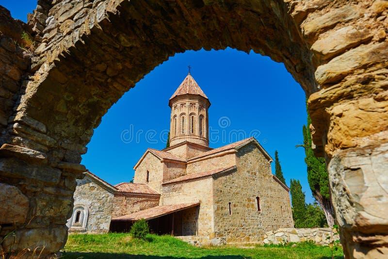 Ikalto ortodoxt klosterkomplex och akademi i Kakheti Georgia arkivfoto