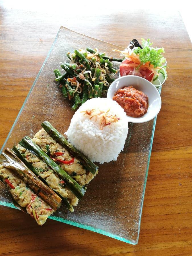 Ikan Pepes, Balinese grillte Fische stockbild