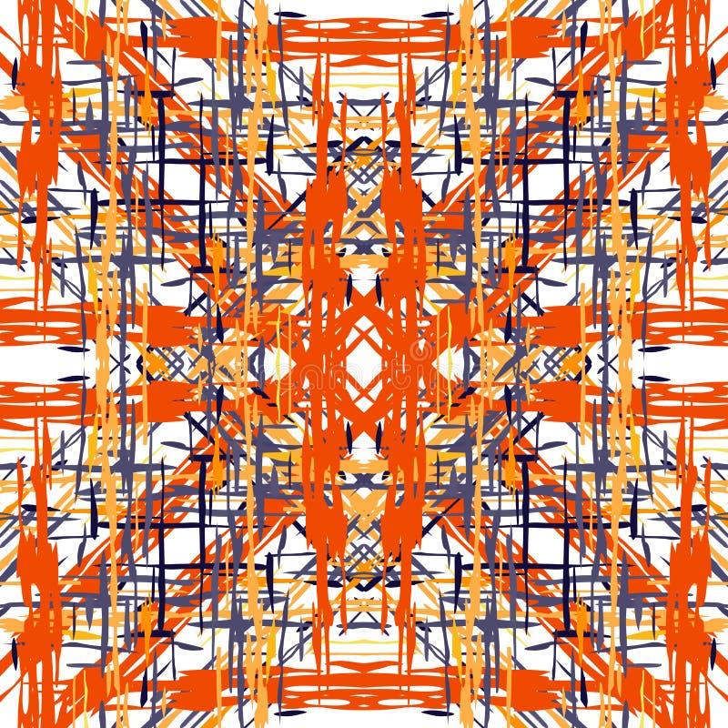 Ikat seamless geometric pattern shibori stock illustration