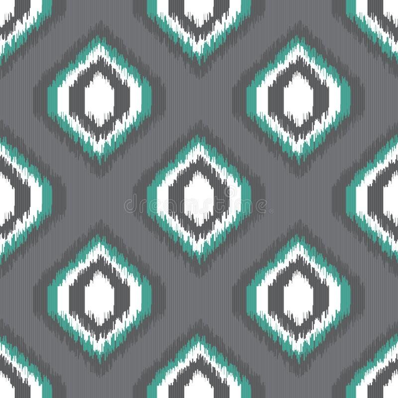 Ikat bezszwowy wzór dla sieć projekta lub domowego wystroju royalty ilustracja