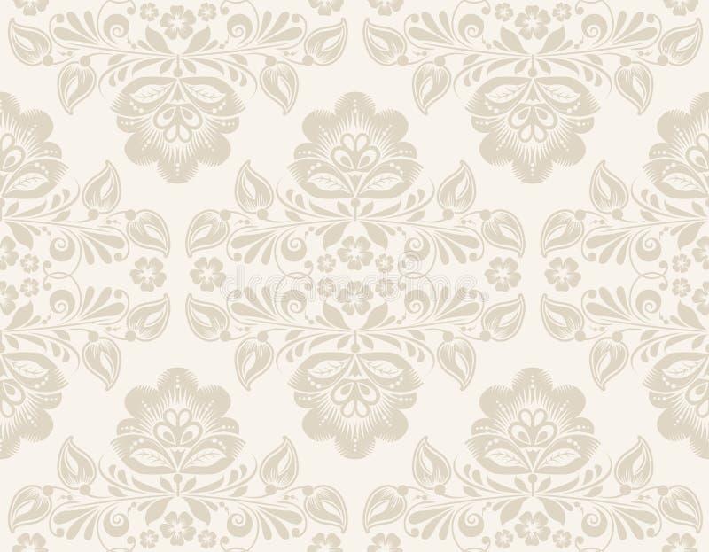 Ikat-Damast-nahtloses Hintergrund-Muster lizenzfreie abbildung