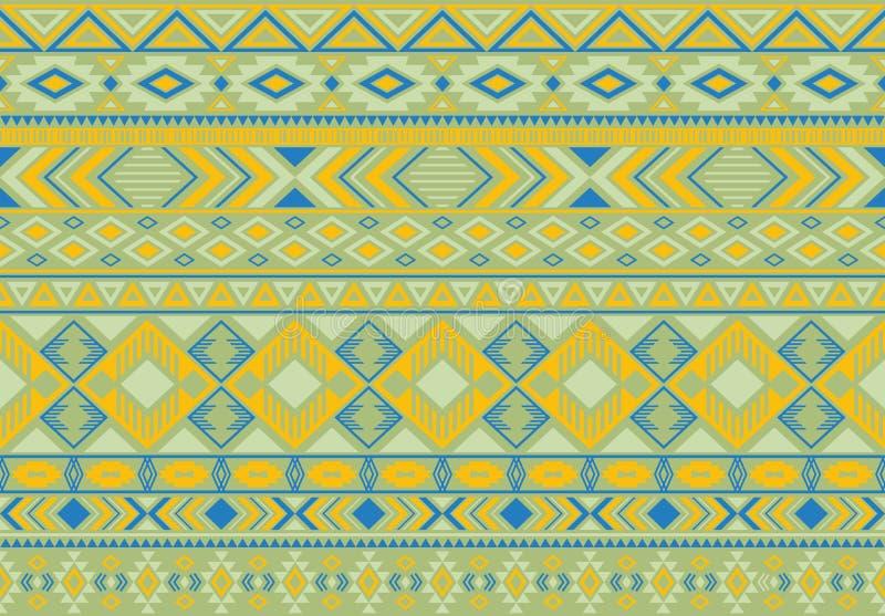 Ikat deseniowych plemiennych etnicznych motywów geometryczny bezszwowy wektorowy tło ilustracji