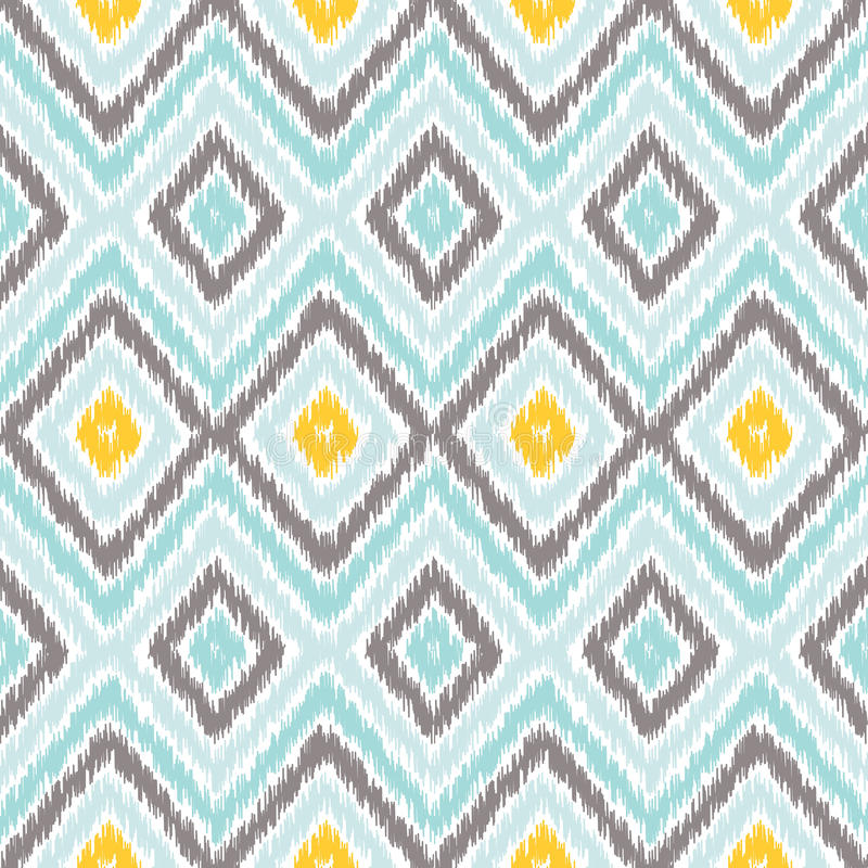 Ikat Fabric Style Rug Texture Pattern Stock Vector