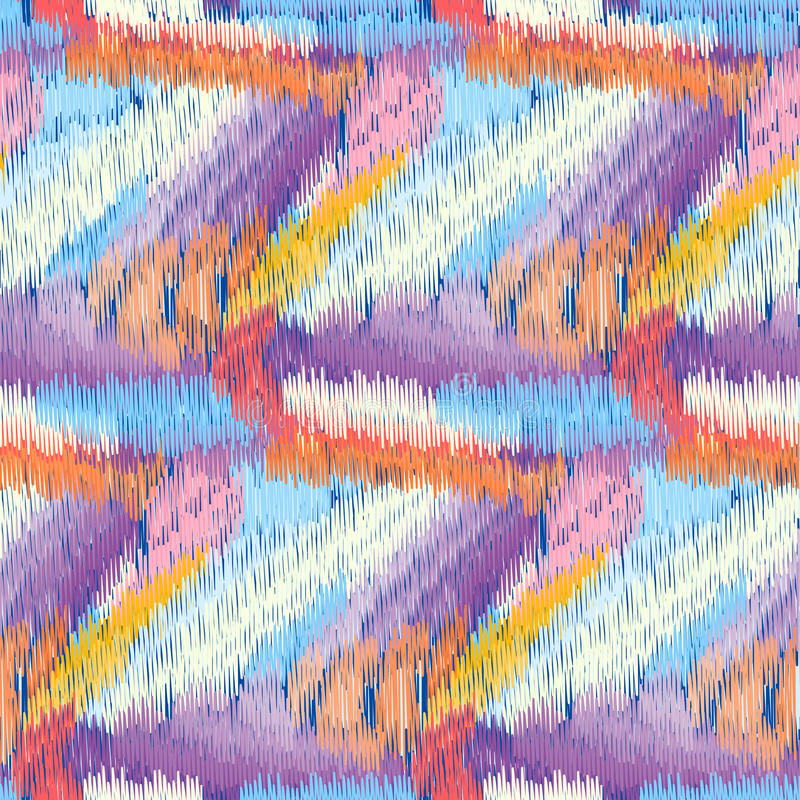 Ikat mönstrar royaltyfri illustrationer