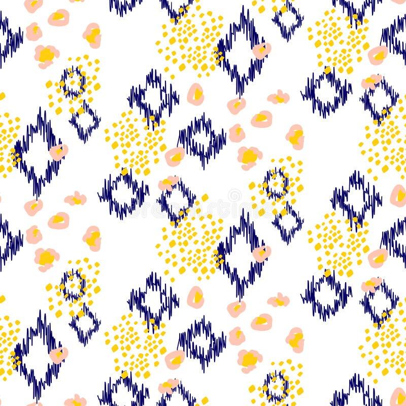 Ikat-ogee nahtloser Musterhintergrund vektor abbildung