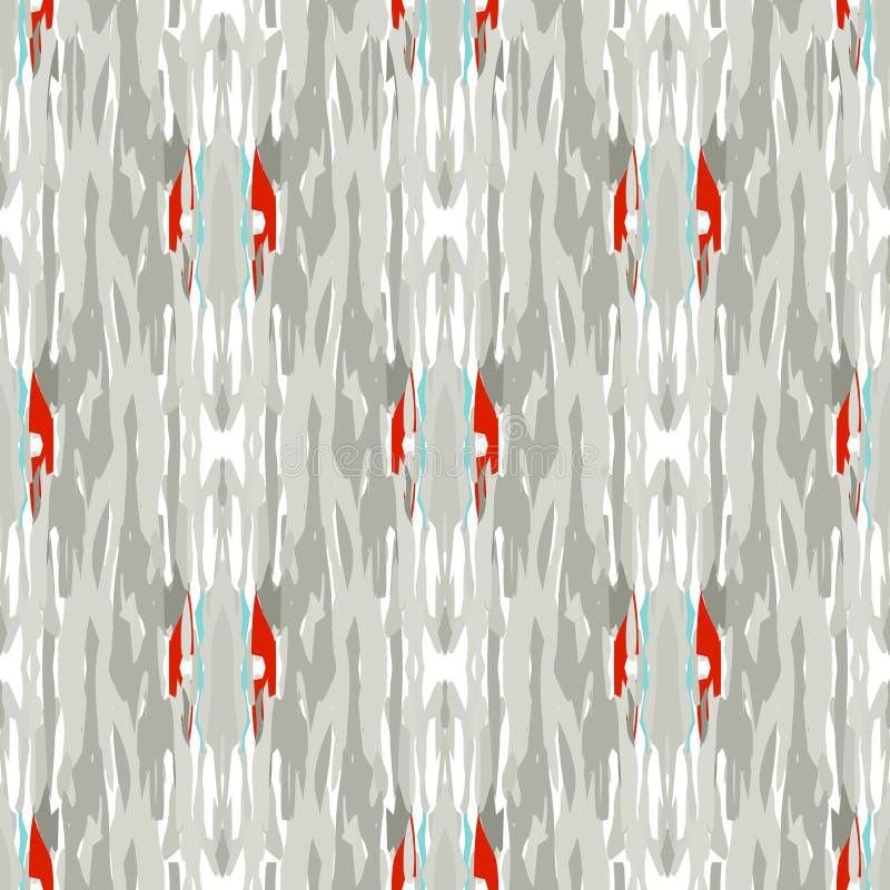 Ikat seamless geometric pattern shibori royalty free illustration