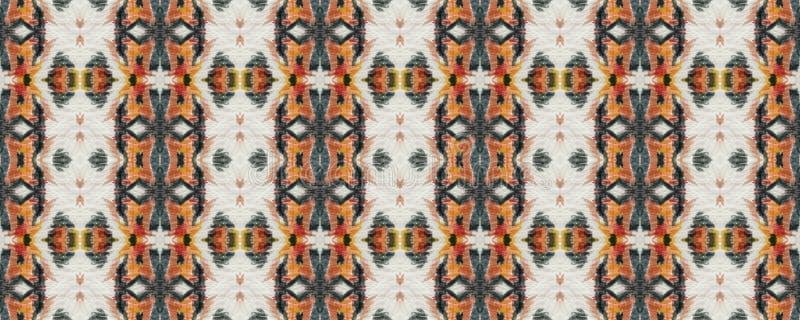 Ikat Seamless Pattern. stock photos