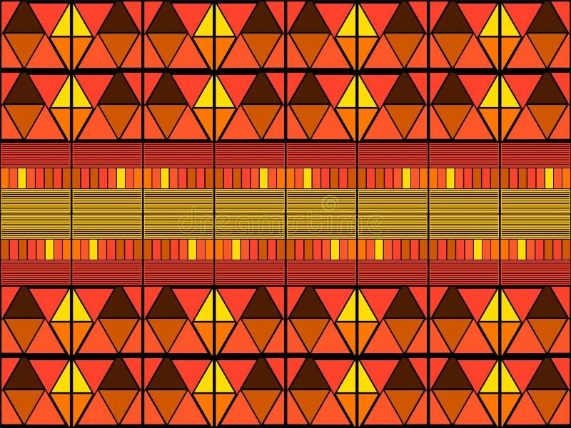 Ikat tribal art print. Seamless African pattern. stock image